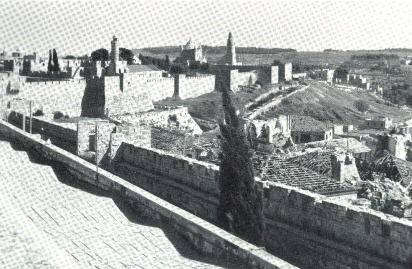 A view of Jerusalem's Old City in the late 1950s (photo credit: Wikimedia Commons)