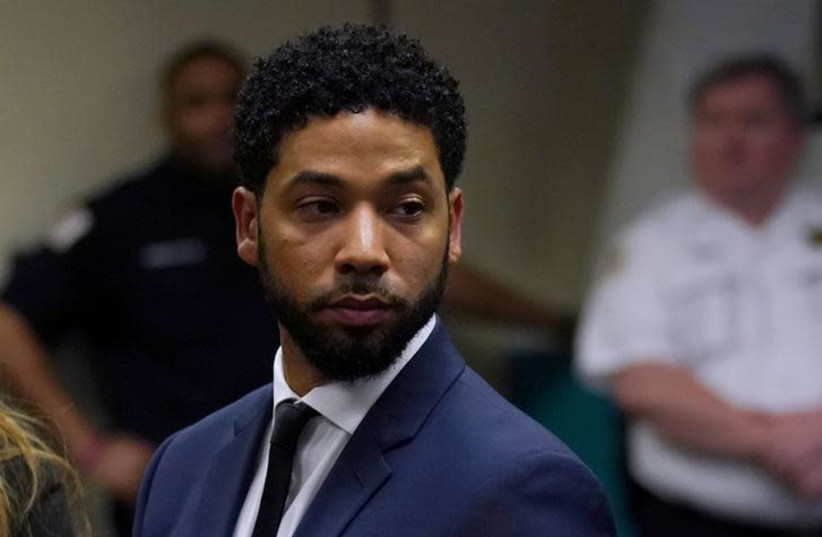 Actor Jussie Smollett makes a court appearance (photo credit: REUTERS)