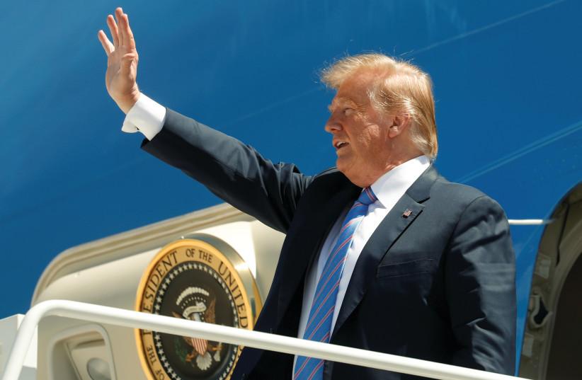 US President Donald Trump (photo credit: REUTERS)