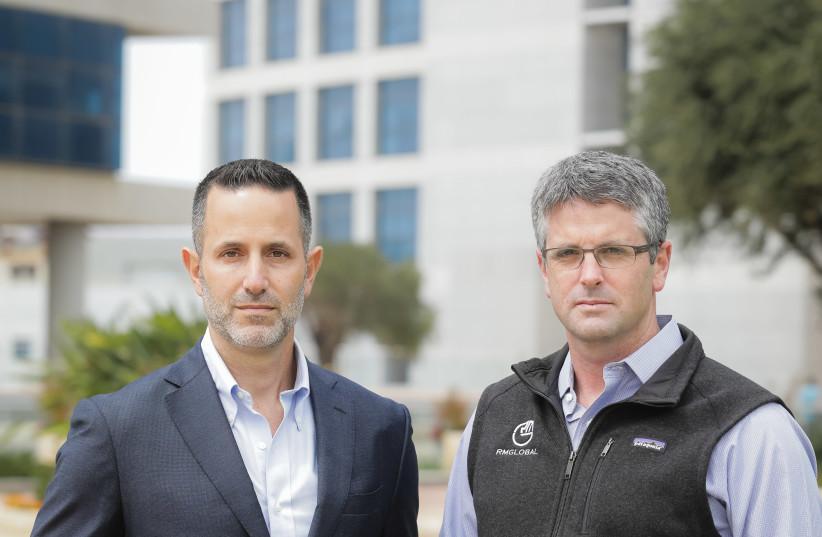 RM Global partner Yaron Breski (L) and RM Global (Israel Office) managing director Assaf Keret (photo credit: ADI COHEN ZEDEK)