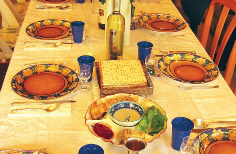 """'AT LAST, at the Seder, I can join in with a full heart, """"Next year in Jerusalem the Rebuilt!""""' (photo credit: Wikimedia Commons)"""