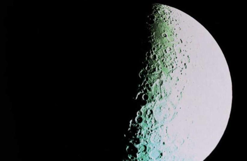 Far side of the moon by Beresheet, April 10, 2019 (photo credit: BERESHEET)