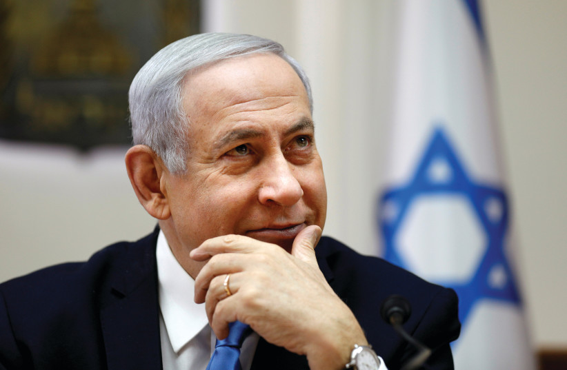 BENJAMIN NETANYAHU – the elections were all about him (photo credit: REUTERS)