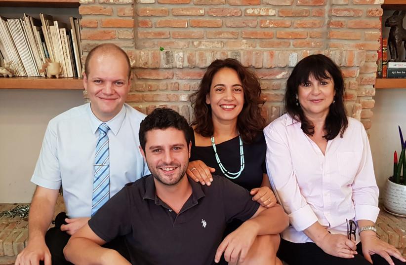 From left: Air Doctor co-founders Yegor Kurbachev, Yam Derfler, Efrat Sagi-Ofir and Jenny Cohen Derfler (photo credit: AIR DOCTOR)