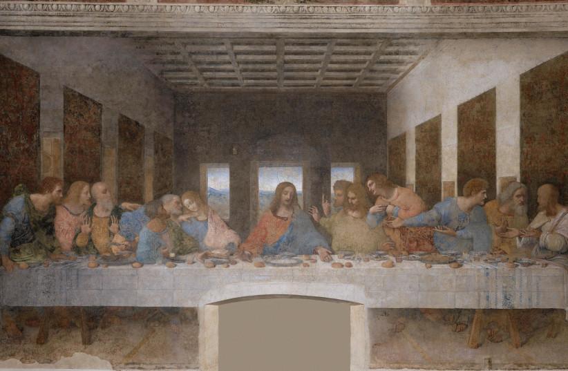 Leonardo Da Vinci's Last Supper  (photo credit: Wikimedia Commons)