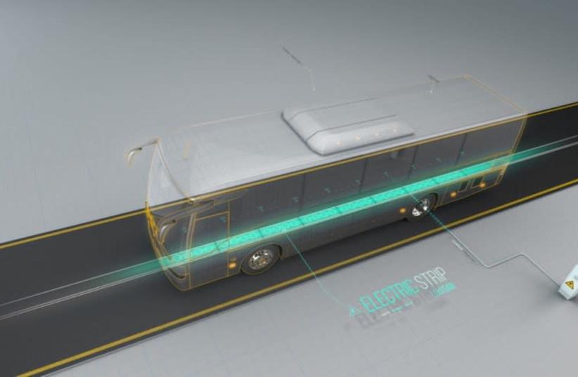 An illustration of Electreon Wireless's dynamic wireless power transfer technology (photo credit: ELECTREON WIRELESS)