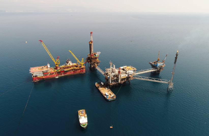 Energean's oil and gas producing complex at Prinos North Oil Field in Eastern Macedonia, Northern Greece (photo credit: ENERGEAN)