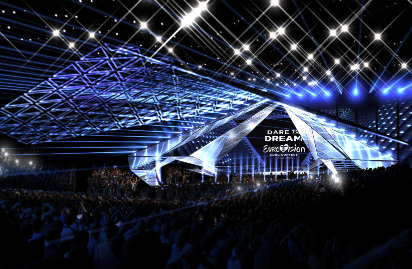 A PROJECTION of the Eurovision stage that is currently under construction (photo credit: KAN)