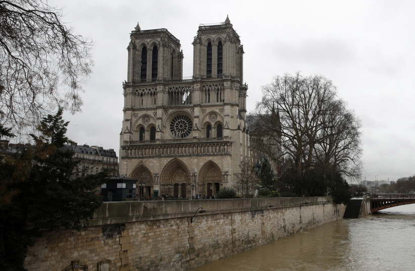 The Notre Dame Cathedral in Paris, France (photo credit: REUTERS/PHILIPPE WOJAZER)