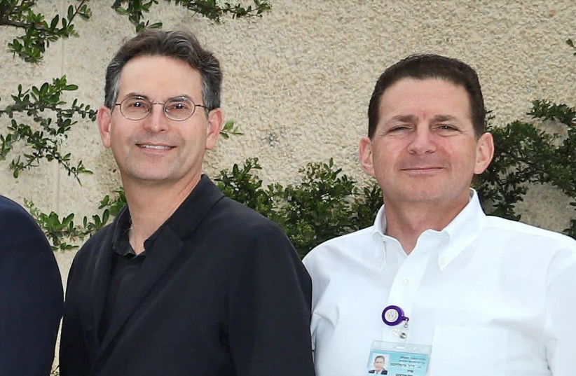 Picture: Prof. John Halamka (L) of Harvard Medical School with Dr. Eyal Zimlichman, Deputy Director General, Chief Medical Officer and Chief Innovation Officer at Sheba Medical Center  (photo credit: SHEBA MEDICAL CENTER)