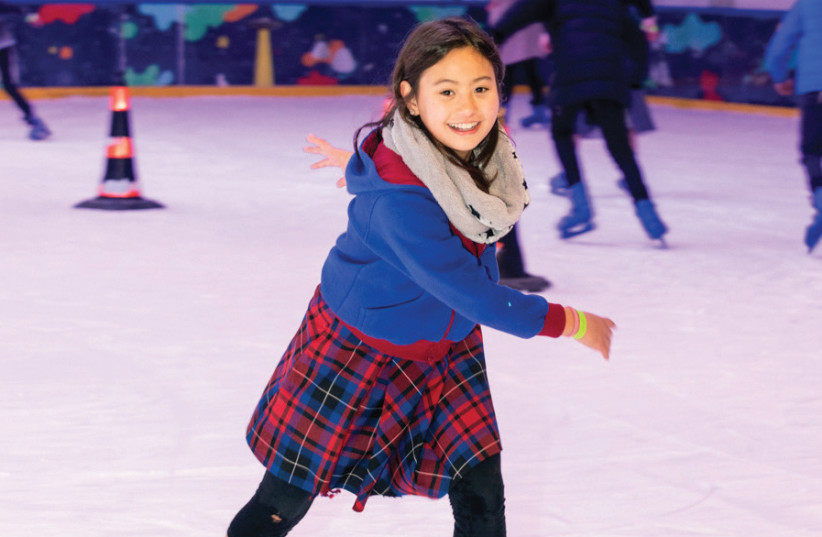 FOOD! MUSIC! Ice skating! It's spring but you can still take part in the iceskating festival. (photo credit: Courtesy)