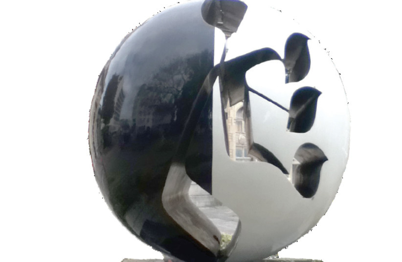 MONUMENT IN memory of Rabbeinu Shlomo Yitzhaki (Rashi) in Troyes, France. Created by Raymond Moretti, 1992. (photo credit: Wikimedia Commons)
