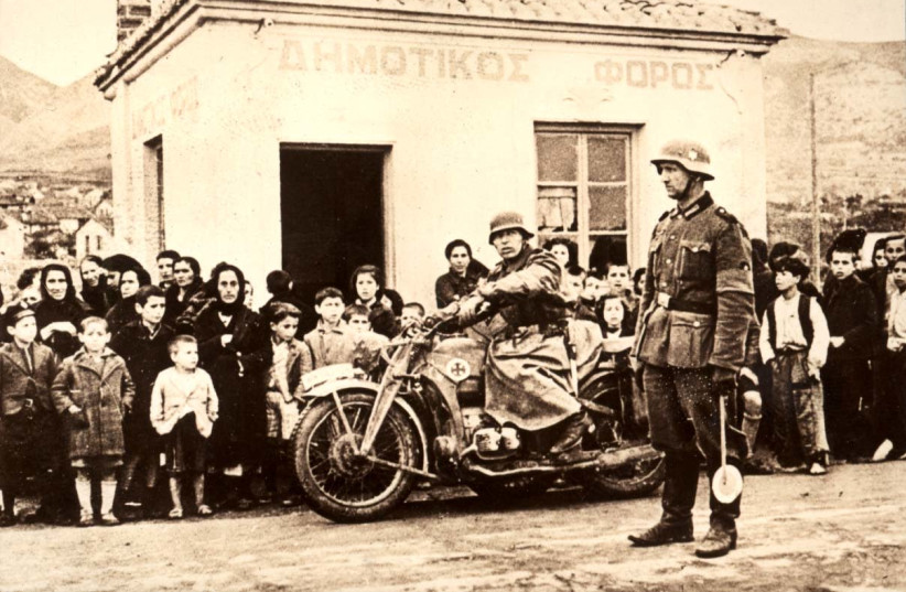 Invastion of German army into Greece. (photo credit: YAD VASHEM)