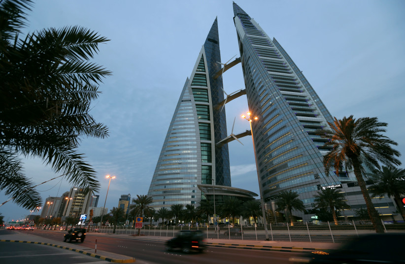 General view of Bahrain World Trade Center in Manama, Bahrain, February 21, 2019. Picture taken February 21, 2019. (photo credit: HAMAD I MOHAMMED / REUTERS)