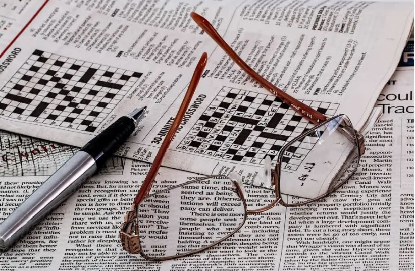 Crossword puzzle [Illustrative].  (photo credit: PIXABAY)