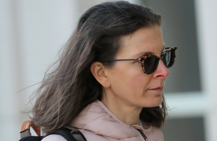 Clare Bronfman, an heiress of the Seagram's liquor empire, arrives at the Brooklyn Federal Courthouse, for her trail regarding sex trafficking and racketeering related to the Nxivm cult in the Brooklyn borough of New York, U.S., January 9, 2019. (photo credit: BRENDAN MCDERMID/REUTERS)