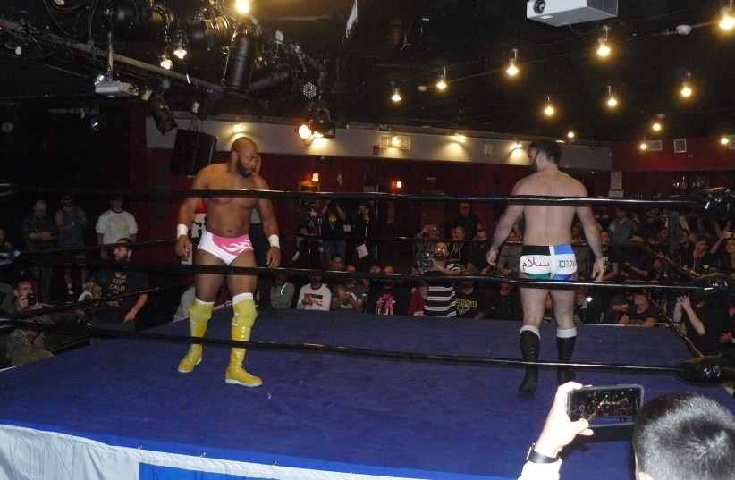 Wrestlers Jay Lethal and David Starr (photo credit: Courtesy)