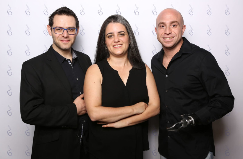 6Degrees co-founders Aryeh Katz (L), Miri Berger (C) and Ziv Shilon (R).   (photo credit: IDO IZSAK)