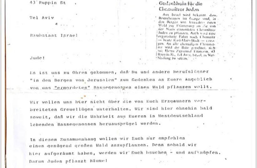 Letter penned by Hanoch Sigmund Titman (photo credit: Courtesy)