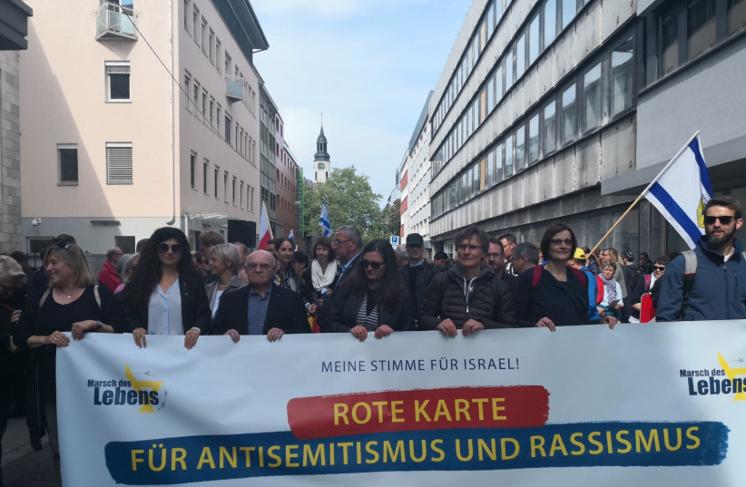 March in Germany on May 2. (photo credit: Courtesy)