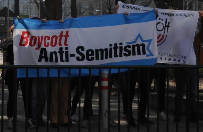 Vienna students fight antisemitism (photo credit: TIMO MULLER)
