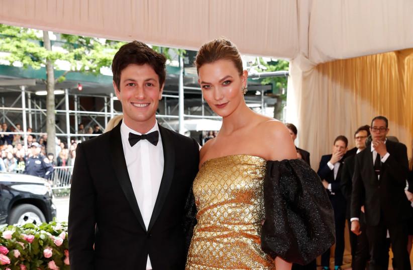 Joshua Kushner and Karlie Kloss at the Met Gala, May 6, 2019 (photo credit: ANDREW KELLY / REUTERS)