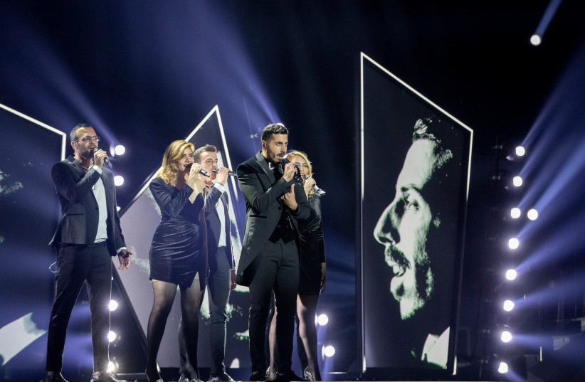 Kobi Marimi holds his first Eurovision rehearsal on Friday in Tel Aviv.  (photo credit: ANDRES PUTTING/EBU)