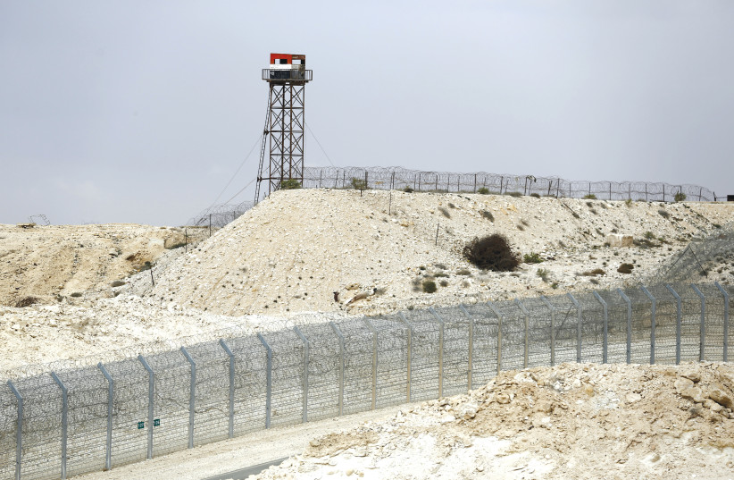 A FENCE along the Israel-Egypt border. (photo credit: REUTERS)