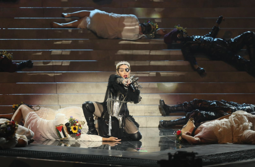 Madonna performs at 2019 Eurovision Song Contest (photo credit: ORIT PNINI/KAN)