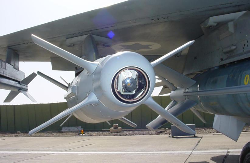 SPICE 2000 on F-16 (photo credit: RAFAEL ADVANCED DEFENSE SYSTEMS)