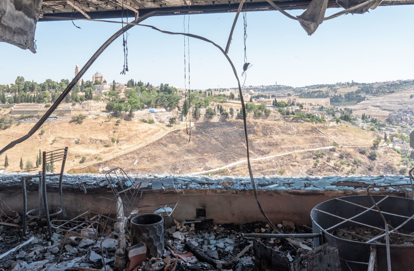 The Daystar studio was burned to the ground in an arson attack (photo credit: JONATHAN GOFF/CBN NEWS)