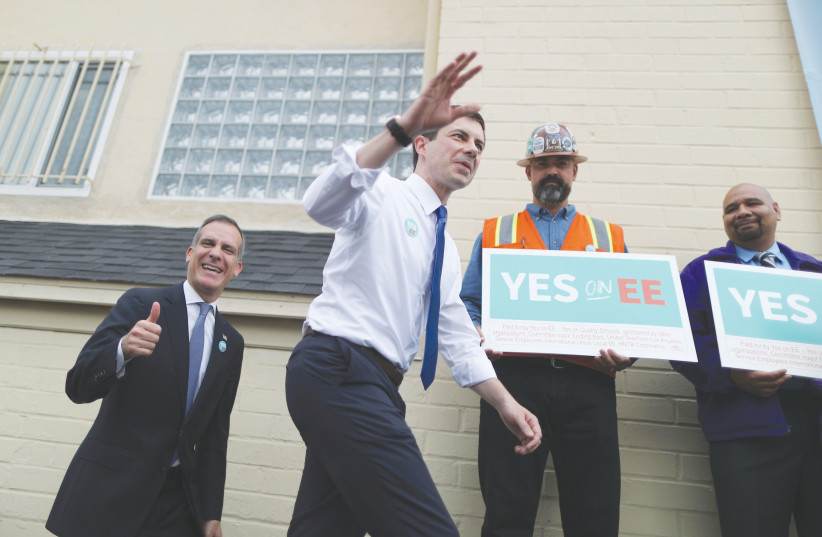 US Democratic candidate Mayor Pete Buttigieg (photo credit: REUTERS)