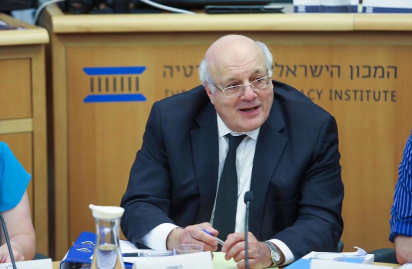 Head of central elections committee Judge Hanan Melczer     (photo credit: NOAM MOSKOWITZ)