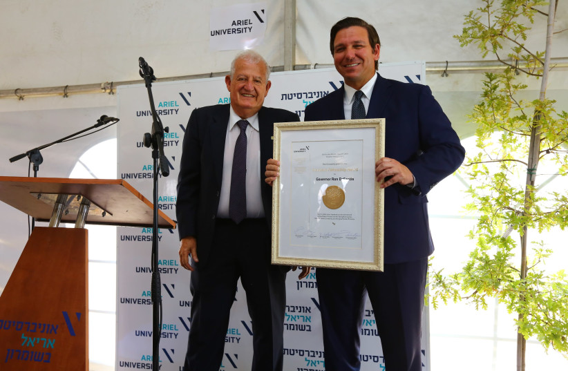 DeSantis in Ariel University (photo credit: THE GOVERNORS PRESS OFFICE)