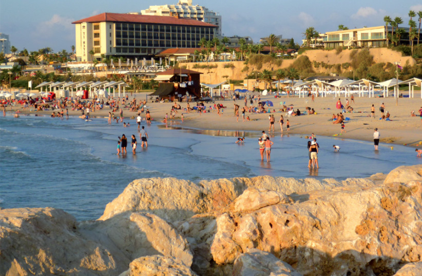 The beachfront of Herzliya, which offers an exquisite range of food (photo credit: BARRY BORMAN)