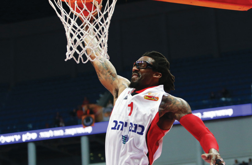 AMAR'E STOUDEMIRE helped lead Hapoel Jerusalem to the BSL Final Four this week, but will he be with the team next season? (photo credit: UDI ZITIAT)