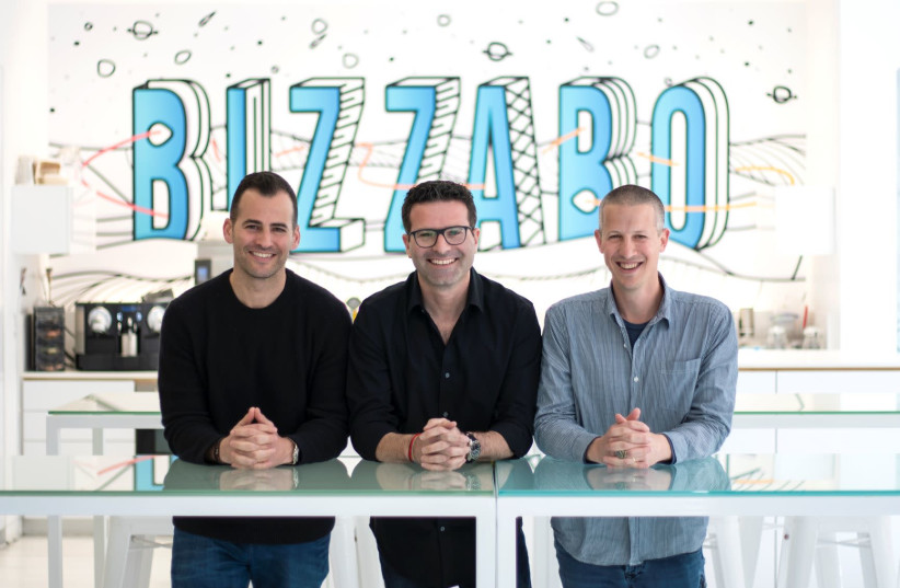 Bizzabo co-founders Alon Alroy (L), Eran Ben-Shushan (C) and Boaz Katz (R) (photo credit: BIZZABO)