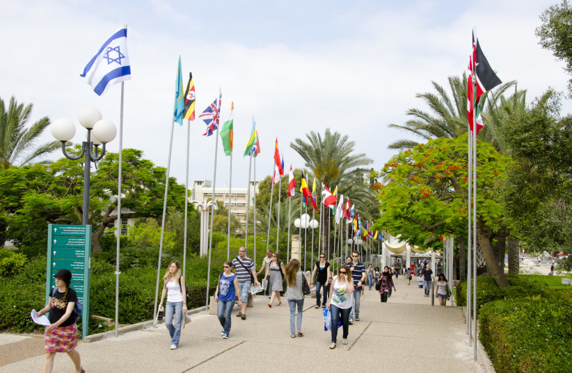 Students at Tel Aviv University (photo credit: MICHAL ROCHE – BEN AMI)