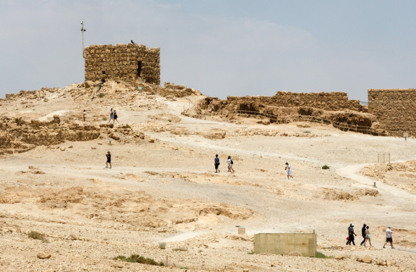THE ARCHEOLOGICAL remains of Masada, the author says, could be interpreted in many different ways. (photo credit: MARC ISRAEL SELLEM)