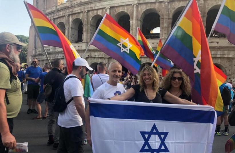 Rome Pride Parade 2019. (photo credit: MAGEN DAVID KESHET ITALIA)