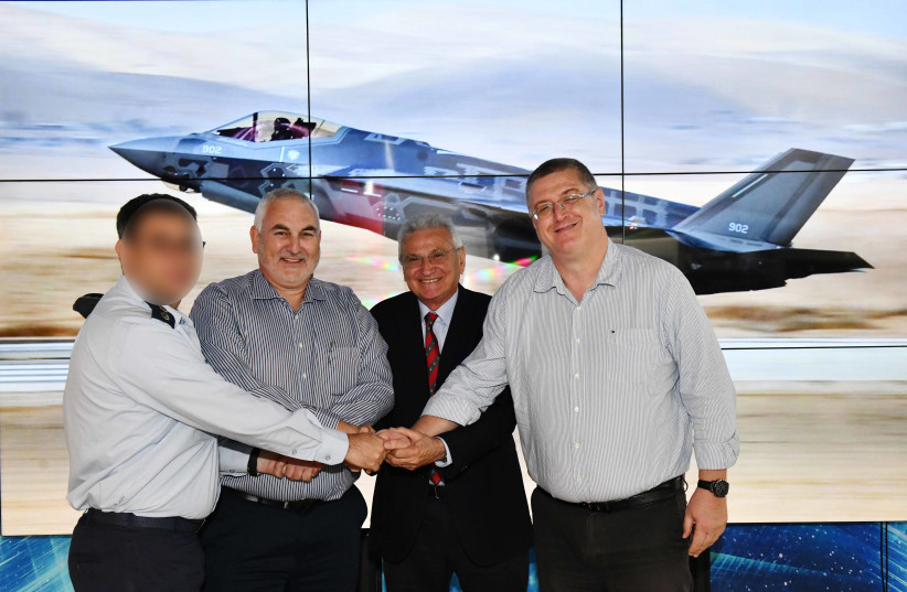 F-35 Maintenance Agreement  signed (photo credit: ARIEL HERMONI / DEFENSE MINISTRY)