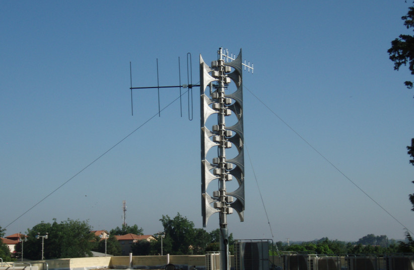 Rocket siren system in Israel (photo credit: WIKIMEDIA COMMONS/KFIR)