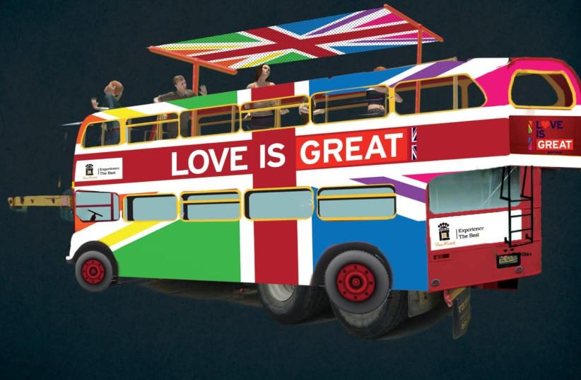 British Embassy's Tel Aviv Pride float 2019 (photo credit: BRITISH EMBASSY IN ISRAEL)