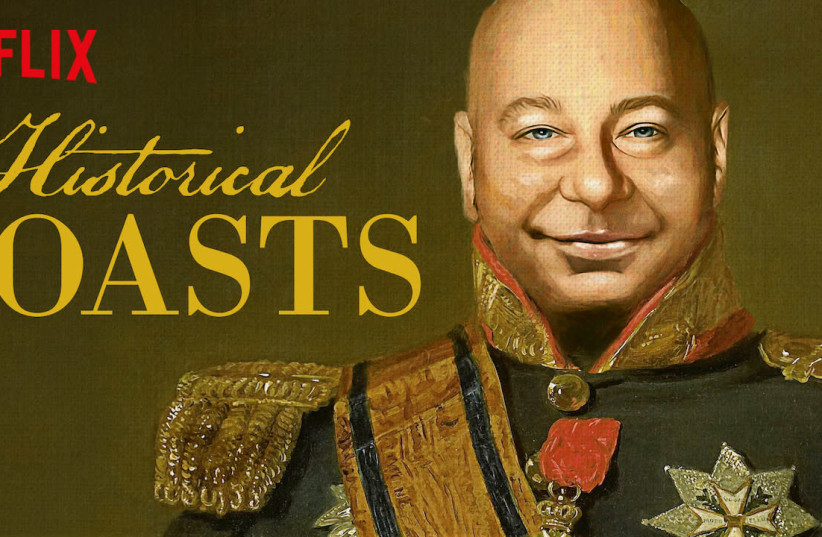 JEFF ROSS in a promo for his Netflix show 'Historical Roasts'  (photo credit: NETFLIX)