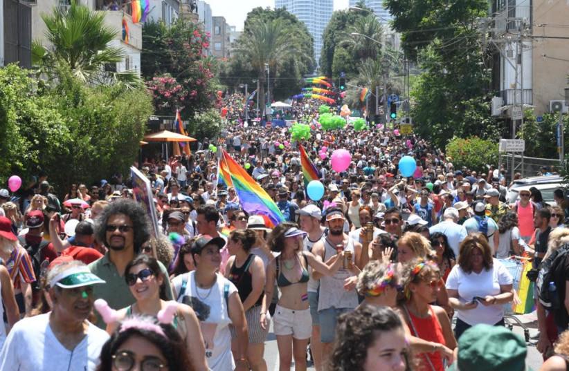 Tel Aviv Pride Parade kicks off, 2019. (photo credit: AVSHALOM SASSONI)
