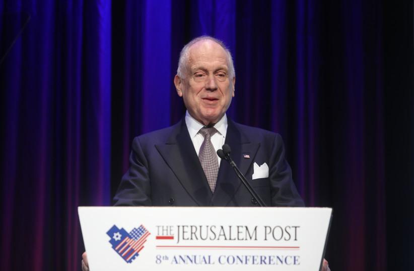 World Jewish Congress President Ronald S. Lauder speaks at the Jerusalem Post Conference in 2019 (photo credit: MARC ISRAEL SELLEM/THE JERUSALEM POST)