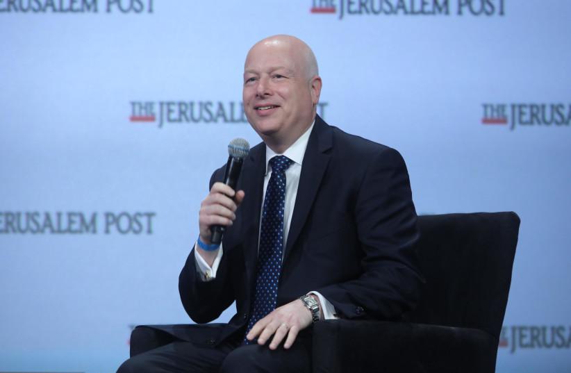 US Middle East envoy Jason Greenblatt speaks at the 8th annual Jerusalem Post conference, New York (photo credit: MARC ISRAEL SELLEM/THE JERUSALEM POST)