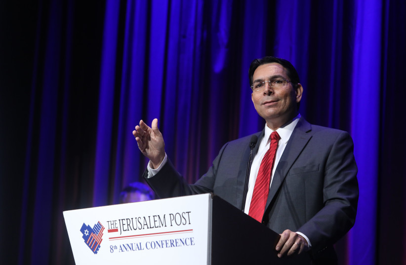 Israel's Ambassador to the UN, Danny Danon, speaks at the Jerusalem Post Annual Conference in New York (photo credit: MARC ISRAEL SELLEM/THE JERUSALEM POST)