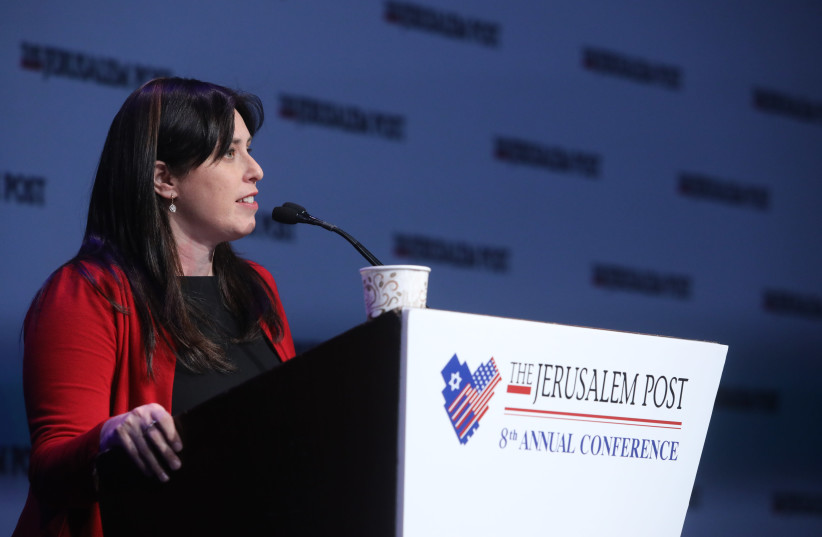 Tzipi Hotovely speaks at the Jerusalem Post annual conference in New York (photo credit: MARC ISRAEL SELLEM/THE JERUSALEM POST)