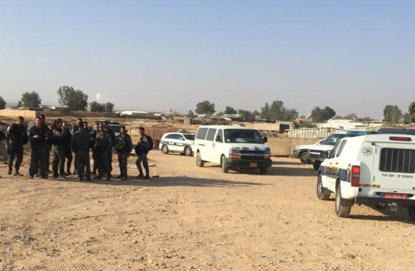 Violent clashes between police and residents of Bedouin village in Negev (photo credit: Courtesy)